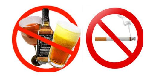 Hạn chế sử dụng rượu, bia, thuốc lá 1